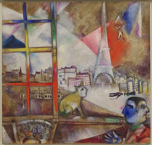 Marc Chagall: Paris Through the Window, 1913. Oil on canvas
