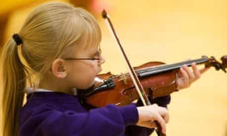 Children playing musical instruments at Sistema Scotland