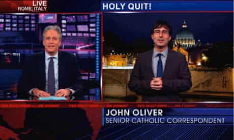 Jon Stewart and Jon Oliver on The Daily Show