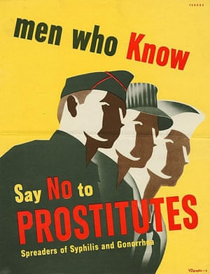 WWII STD Posters: No to prostitutes
