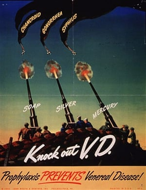 WWII STD Posters: Knock out vd
