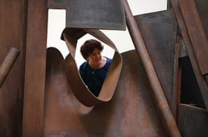 Summer Show: A visitors peers through Shadows by Sir Anthony Caro