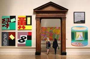 Summer Show: Visitors walk through the Royal Academy galleries during the Summer Exhibit