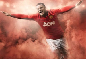 2013/14 kits 2: Rooney in new United shirt