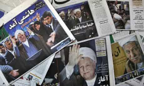 Iran Sunday newspapers 12 May