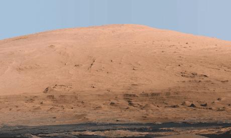 Mount Sharp on Mars.