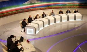 Iran election candidates unite against TV quiz