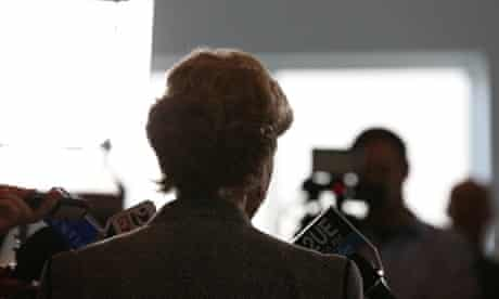 Greens Leader Christine Milne at a press conference in Parliament House Canberra. Photograph: Mike Bowers/The Global Mail