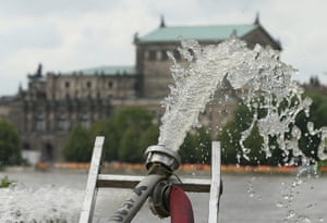 flooding: Floods Hit Germany: Elbe And Saale