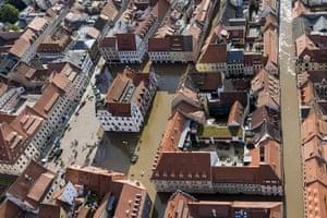 flooding: Flooding in Saxony, Germany - 05 Jun 2013
