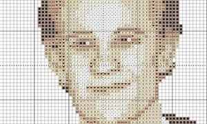 Matt Smith cross stitch chart.