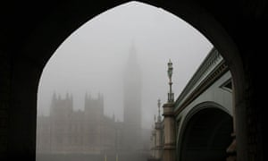 The Houses of Parliament are pictured th