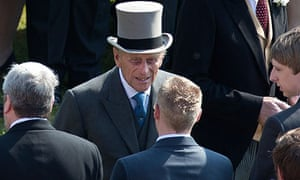 Prince Philip attends a garden party at Buckingham Palace shortly before being admitted to hospital