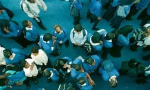 School pupils in playground