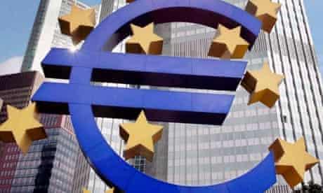 euro sign statue