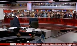 Queen photobombs BBC