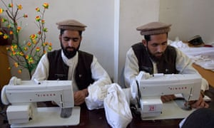 Sewing class in a deradicalisation centre in the Swat valley