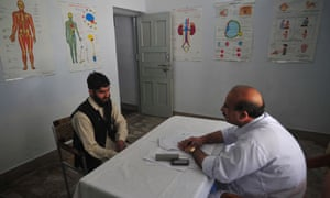 A 'student' has counselling at the Swat valley centre