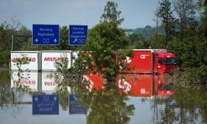 Floods Hit Germany: Danube and Inn