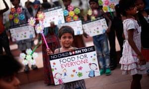 New Delhi demonstration against hunger