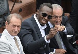 tennis: Jamaican athlete Usain Bolt