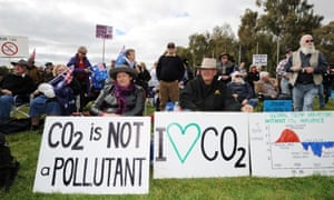 Anti-carbon tax protesters in Canberra.