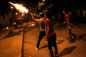 Egypt protest: Anti-Morsi protesters attack the Muslim Brotherhood headquarters in Al-Moqa