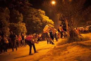 Egypt protest: Egyptian protesters attack the Muslim Brotherhood headquarters in the Muqat