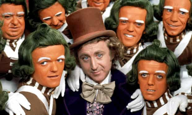 Willy Wonka and some Oompa Loompas