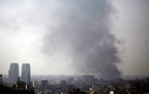 Egypt update: Smoke rises over the city of Cairo