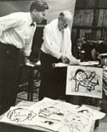 John D Wilson, left, with Igor Stravinsky