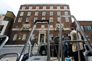 It may seem a little premature but members of the press are already setting up outside St Mary's Hospital in preparation for the birth of the first child of The Duke and Duchess of Cambridge due early this month.