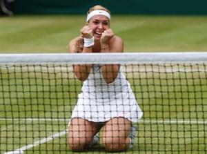 Sabine Lisicki's delight on making it through to the next round is heartwarming!