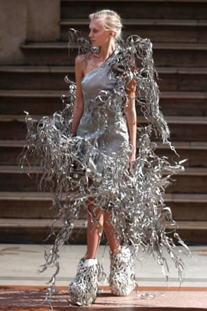 This is rather a sculptural look created by designer Iris van Herpen as part of her Haute Couture autumn/winter show in Paris.