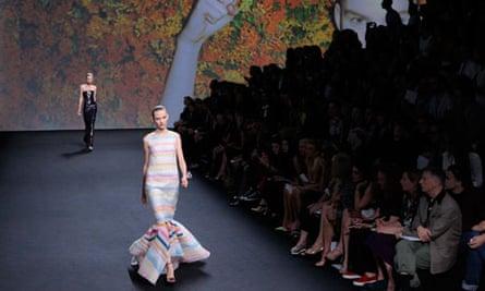 Dior haute couture show in Paris