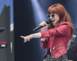 Carly Rae Jepsen performs during Canada Day celebrations on Parliament Hill in Ottawa, Canada. Photograph: Mark Horton/WireImage