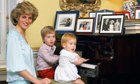 Diana, Princess of Wales with Princes William and Harry in 1985.
