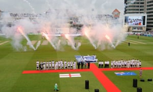 The opening ceremony during the 1st Ashes Test Match between England and Australia at Trent Bridge in Nottingham.