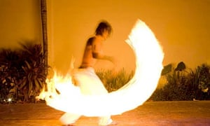 Fire dancer in Mexico