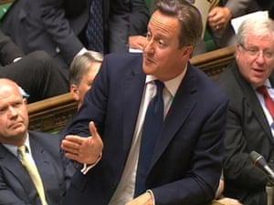 David Cameron speaks at PMQs today.