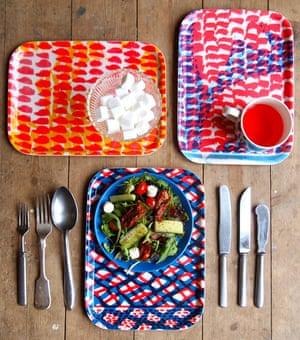 Jonna Saarinen's printed trays.
