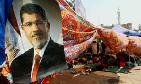 Supporters of ousted former President Morsi demonstrate
