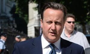 David Cameron, public health statistics