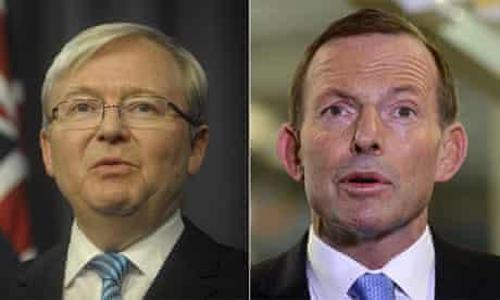 Kevin Rudd and Tony Abbott