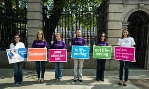 Pro-life protest outside Irish Parliament in Dublin