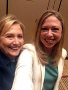 Hillary and Chelsea Clinton selfie