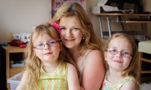 Widow Georgia Elms with Scarlett and Daisy