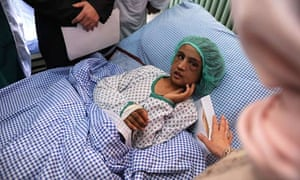 Sahar Gul pictured in December 2011 as she recovered at hospital in Kabul