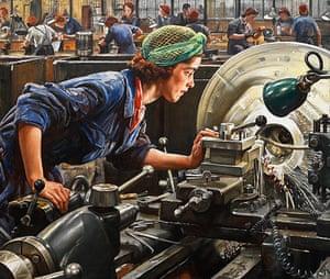 Laura Knight: Ruby Loftus Screwing a Breech Ring