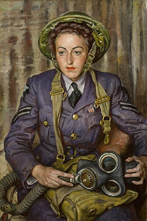 Laura Knight: Corporal J. M. Robins, by Dame Laura Knight